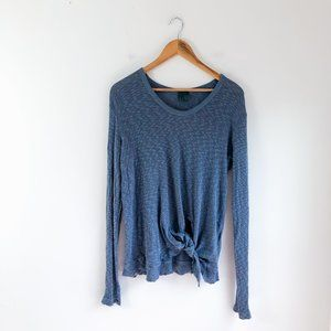 Anthropologie Left of Center tie front thermal M